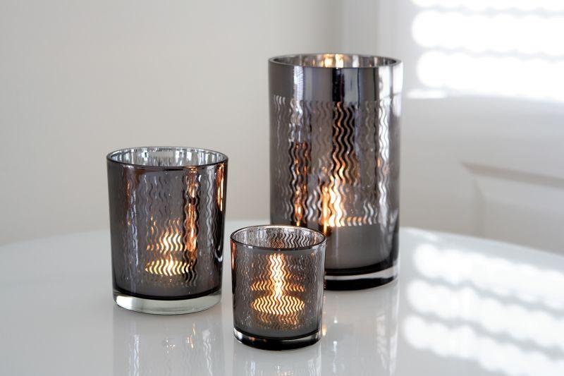 fink windlicht linio wellendekor schwarz d8 h7 3 exklusive wohnaccessoires raumduft und. Black Bedroom Furniture Sets. Home Design Ideas