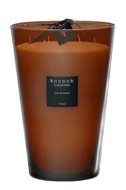 baobab duftkerze cuir de russie maxi max exklusive wohnaccessoires raumduft und duftkerzen. Black Bedroom Furniture Sets. Home Design Ideas