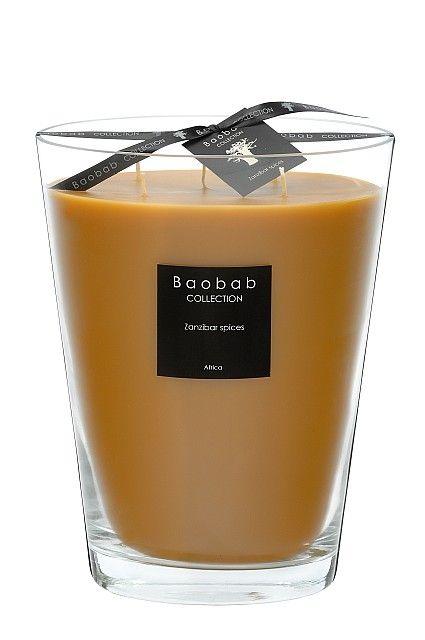 baobab duftkerze zanzibar spices max 24 exklusive wohnaccessoires raumduft und duftkerzen. Black Bedroom Furniture Sets. Home Design Ideas