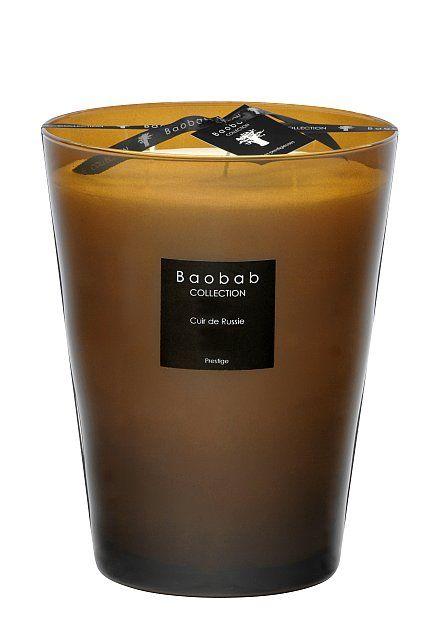 baobab duftkerze cuir de russie max 24 exklusive wohnaccessoires raumduft und duftkerzen. Black Bedroom Furniture Sets. Home Design Ideas