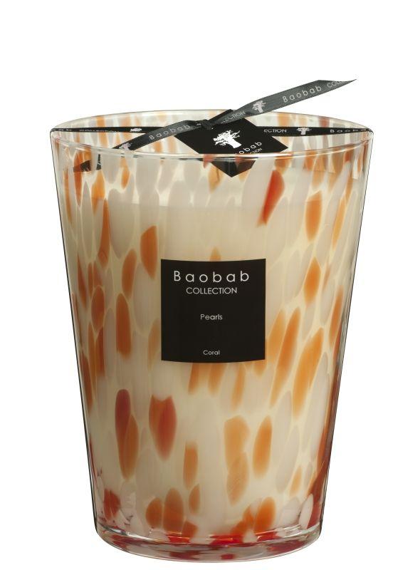 baobab pearls coral duftkerze max 24 exklusive wohnaccessoires raumduft und duftkerzen. Black Bedroom Furniture Sets. Home Design Ideas