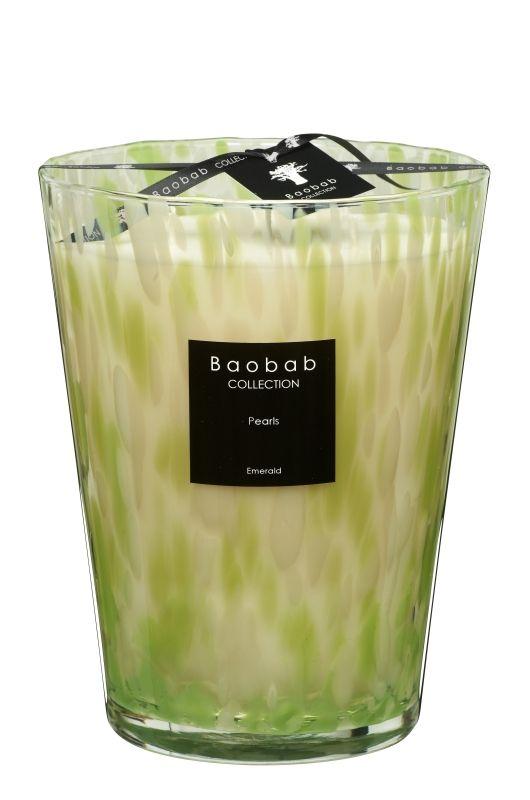 baobab pearls emerald duftkerze max 24 exklusive wohnaccessoires raumduft und duftkerzen. Black Bedroom Furniture Sets. Home Design Ideas