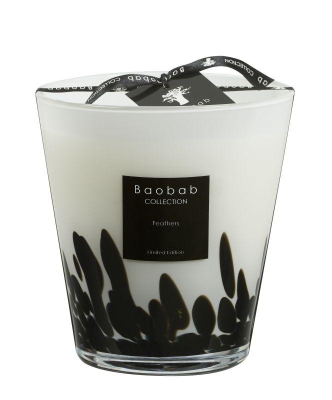 baobab duftkerze feathers max 16 exklusive wohnaccessoires raumduft und duftkerzen. Black Bedroom Furniture Sets. Home Design Ideas