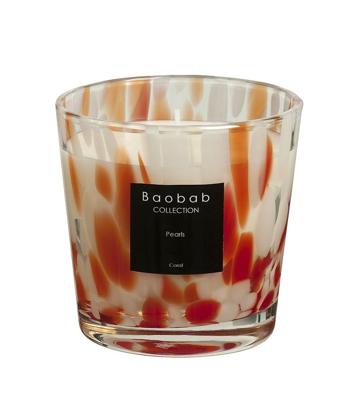 baobab pearls coral duftkerze max one exklusive wohnaccessoires raumduft und duftkerzen. Black Bedroom Furniture Sets. Home Design Ideas