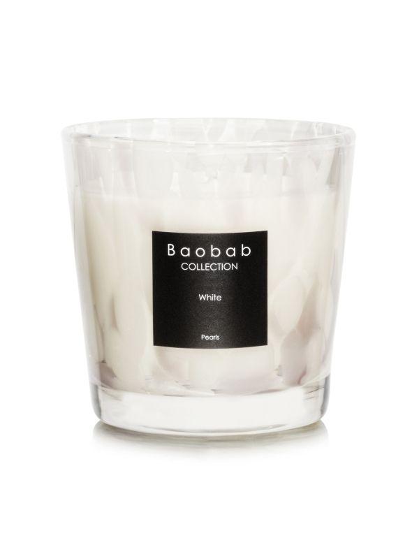 baobab pearls white duftkerze max one exklusive wohnaccessoires raumduft und duftkerzen. Black Bedroom Furniture Sets. Home Design Ideas