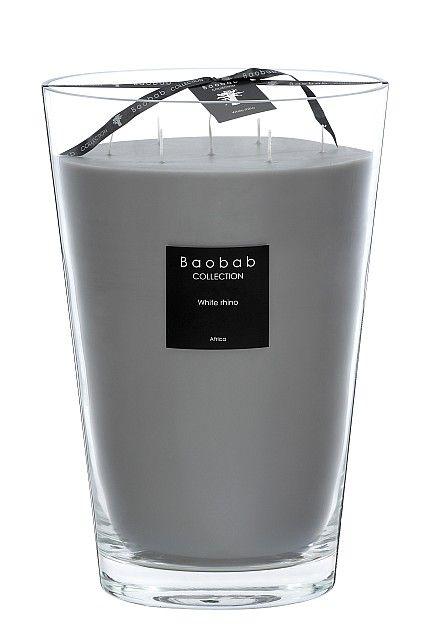 baobab duftkerze maxi max white rhino exklusive wohnaccessoires raumduft und duftkerzen. Black Bedroom Furniture Sets. Home Design Ideas