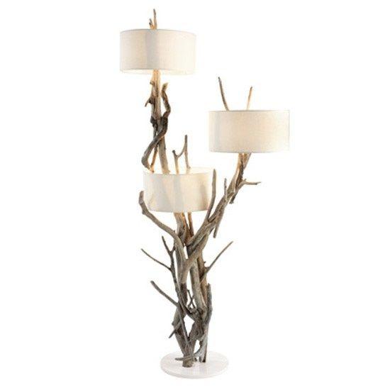 Bleu nature stehlampe qaanaaq exklusive wohnaccessoires for Lampe de chevet en bois flotte pas cher