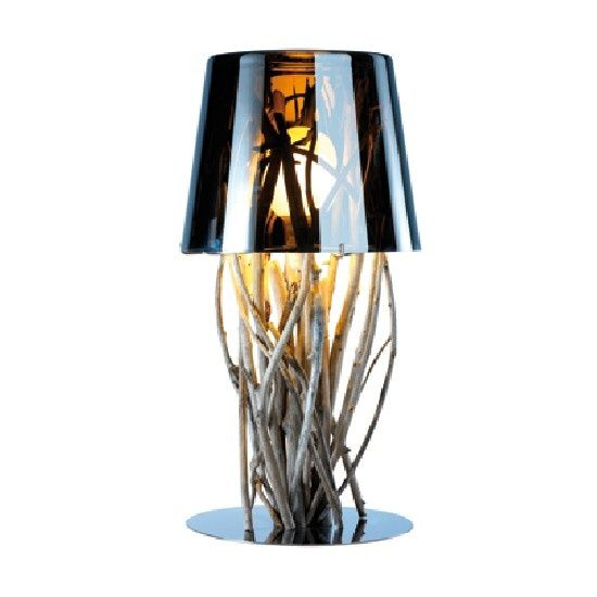 bleu nature treibholz tischlampe kiinau exklusive. Black Bedroom Furniture Sets. Home Design Ideas