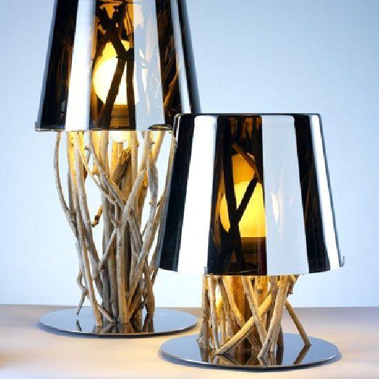 tischlampe treibholz. Black Bedroom Furniture Sets. Home Design Ideas