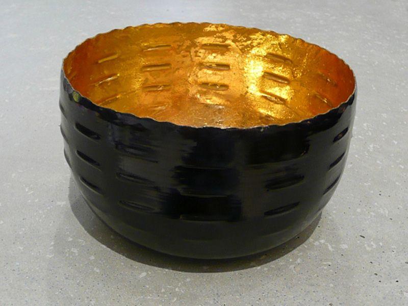 metall windlicht schwarz gold antik d12 h7 exklusive wohnaccessoires raumduft und duftkerzen. Black Bedroom Furniture Sets. Home Design Ideas